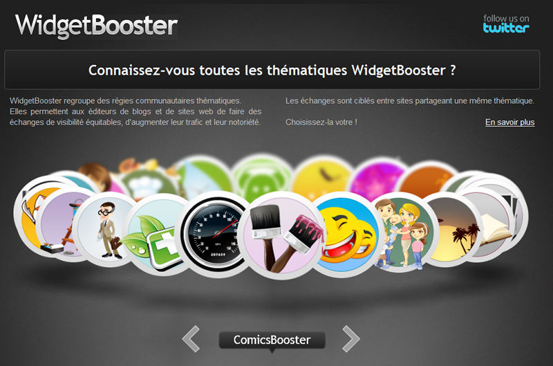 widget booster marketing service promotion blog site gratuit
