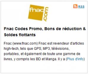 promo fnac code réduction