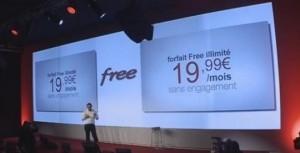 présentation free mobile show xavier niel