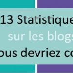 13 statistiques sur les blogs que vous ne connaissez pas forcément mais que vous devriez connaître !