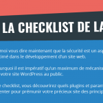 [Infographie] La Checklist de la Sécurité WordPress
