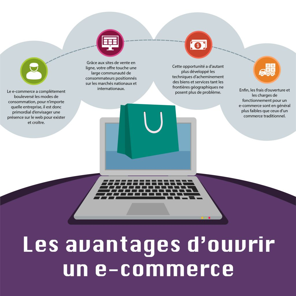 infographie web internet e-commerce boutique
