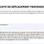Comment remplir l'attestation employeur de déplacement COVID ?